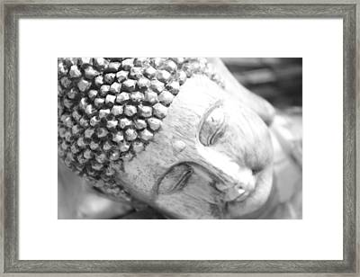 Pinhole Meditative Smile Framed Print