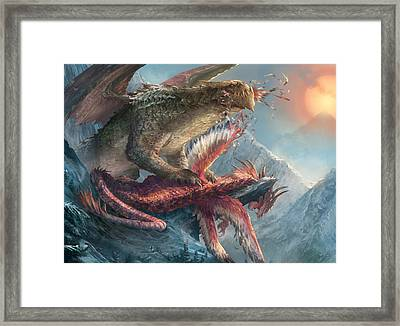 Pinion Feast Framed Print by Ryan Barger