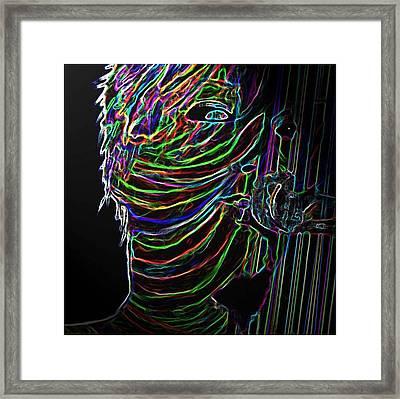 Pink 2 Digital Framed Print by Karen Elzinga