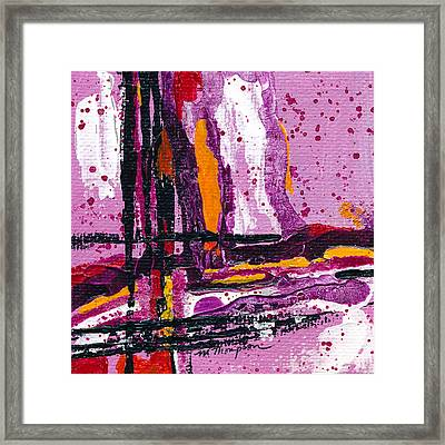 Pink Abstraction Framed Print