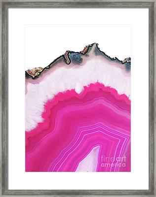 Pink Agate Framed Print by Emanuela Carratoni