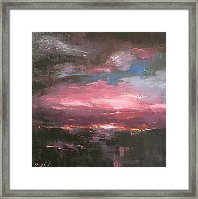 Pink Framed Print by Anastasija Kraineva