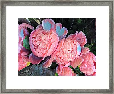 Pink And A Little Blue - Colors From My Garden Framed Print