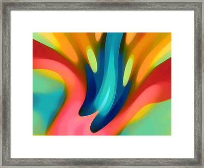 Pink And Blue Lily Horizontal Framed Print by Amy Vangsgard