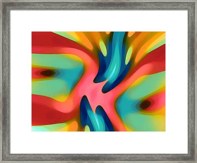 Pink And Blue Owl Horizontal Framed Print