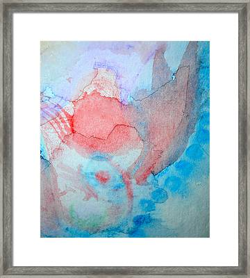 Pink And Blue Framed Print by Paula Deutz