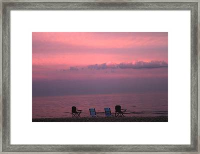 Pink And Deserted Framed Print