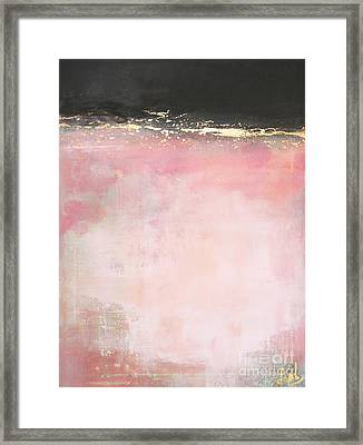 Pink And Gold - Again Framed Print