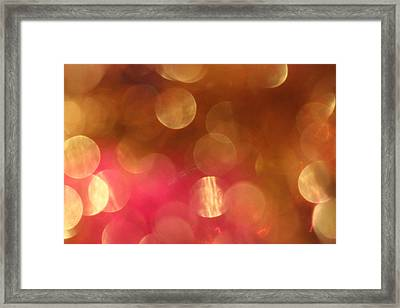 Pink And Gold Shimmer- Abstract Photography Framed Print