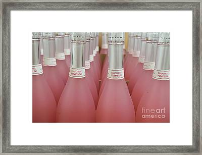 Pink And Gray Framed Print