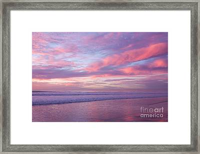 Pink And Lavender Sunset Framed Print