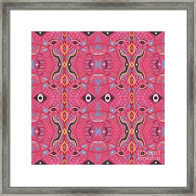 Pink And Ornamental Framed Print by Helena Tiainen