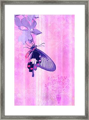 Pink And Purple Companions 1 Framed Print