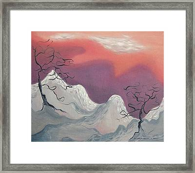 Pink And Purple Sky Framed Print by Suzanne  Marie Leclair