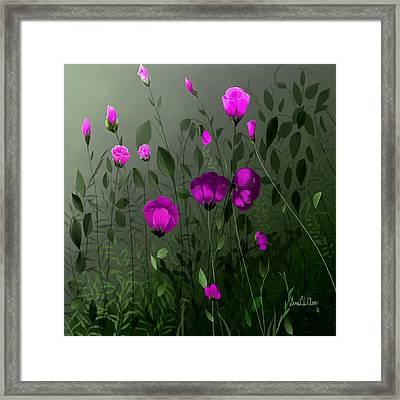 Pink And Wild Framed Print