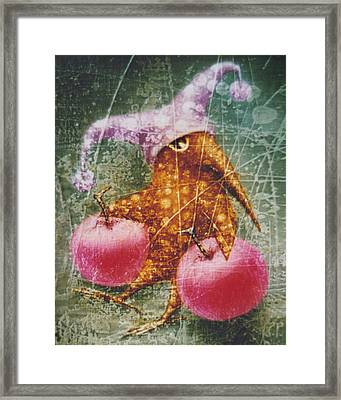Pink  Apples Framed Print