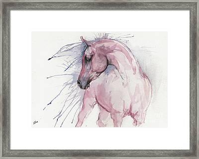 Pink Arabian Horse 2017 07 17 Framed Print
