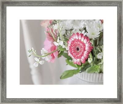 Framed Print featuring the photograph Pink Blooms Love by Kim Hojnacki