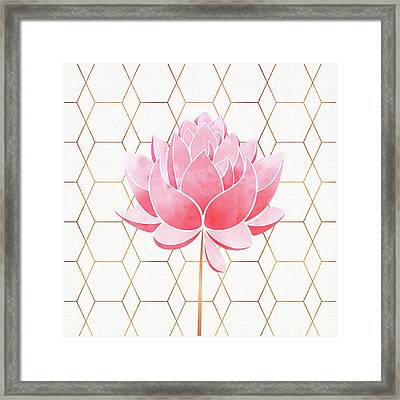 Framed Print featuring the mixed media Pink Blossom by Kristian Gallagher