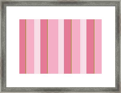 Framed Print featuring the mixed media Pink Blush Stripe Pattern by Christina Rollo