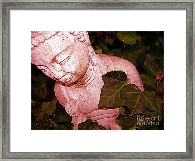 Pink Buddha Love Framed Print by Chuck Taylor