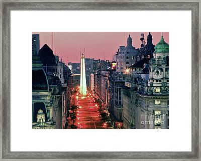 Pink Buenos Aires  Framed Print