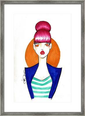 Pink Bun Framed Print by Daniela Valentini