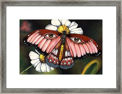 Pink Butterfly Framed Print by Anthony Burks Sr