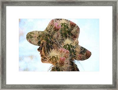 Pink Cactus Framed Print