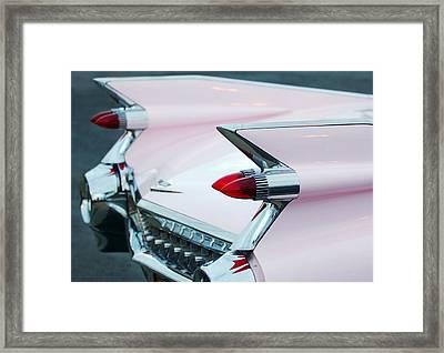 Pink Cadillac Eldorado Tail Fin Framed Print by Jill Reger