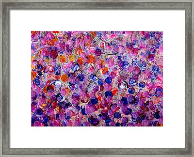 Pink California Splatter Map Framed Print by Sean Corcoran