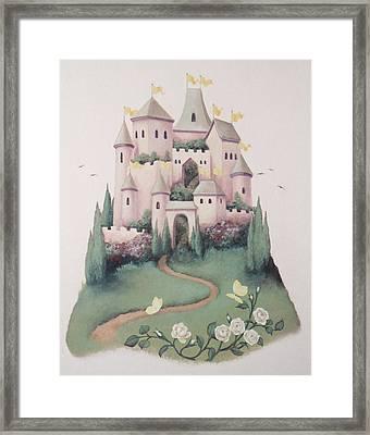 Pink Castle Framed Print