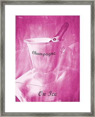 Pink Champagne On Ice Framed Print