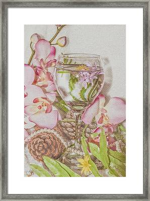 Pink Cheers Framed Print by Pamela Williams
