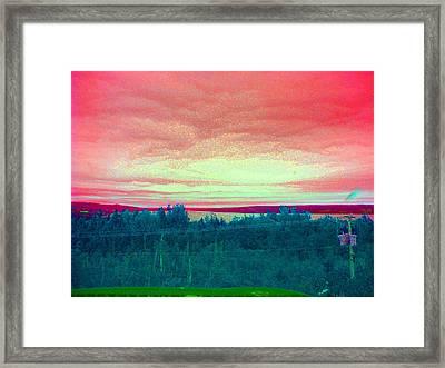 Pink Clouds Framed Print by Allison Prior