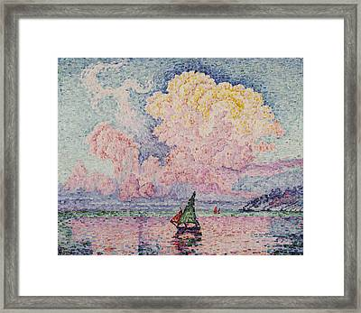 Pink Clouds Framed Print by MotionAge Designs