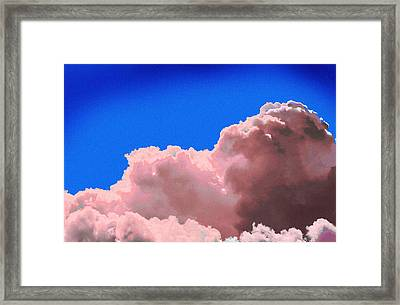 Pink Cluod Framed Print by John Toxey