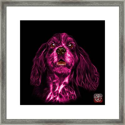 Pink Cocker Spaniel Pop Art - 8249 - Bb Framed Print