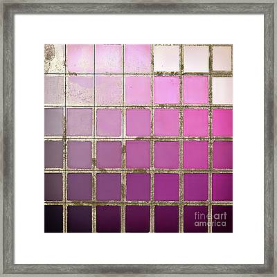 Pink Color Chart Framed Print by Mindy Sommers