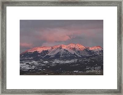 Pink Colorado Rocky Mountain Sunset Framed Print