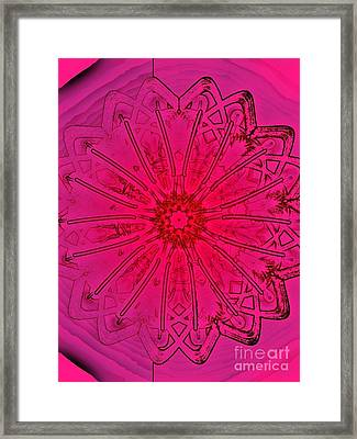 Pink Condition Framed Print by Marie Ward-Alonge