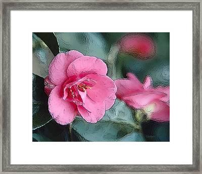 Pink Crystal Framed Print