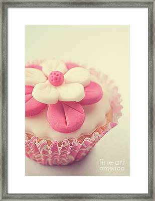 Framed Print featuring the photograph Pink Cupcake by Lyn Randle