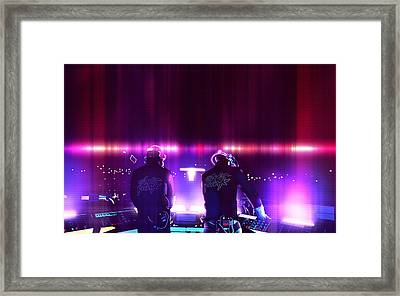 Pink Daft Punk - 61 Framed Print by Jovemini ART