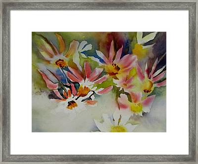Pink Daisies Framed Print