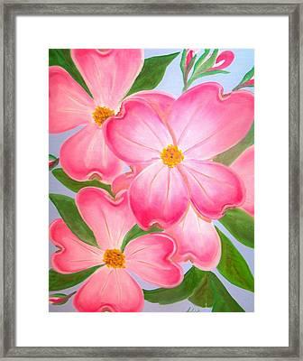 Pink Dogwood Framed Print by Kathern Welsh