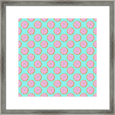 Pink Donuts Framed Print by Little Bunny Sunshine