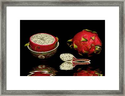 Pink Dragon Fruit  Framed Print by David French