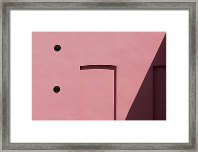 Pink Emoji Framed Print