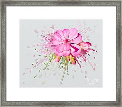 Pink Eruption Framed Print